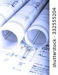 architecture rolls... | Shutterstock . vector #332555204