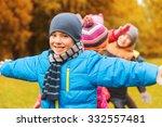 childhood  leisure  friendship... | Shutterstock . vector #332557481