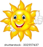 Cartoon Sun  Giving Thumb Up...