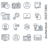 education icon set suitable for ... | Shutterstock .eps vector #332571881