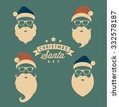 vintage christmas santa | Shutterstock .eps vector #332578187