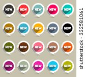 new circle labels set vector | Shutterstock .eps vector #332581061