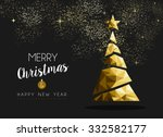 merry christmas and happy new... | Shutterstock .eps vector #332582177