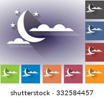 cloudiness. moon with clouds.... | Shutterstock .eps vector #332584457