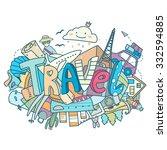 vector abstract illustration... | Shutterstock .eps vector #332594885