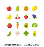 set of healthy fruit and...   Shutterstock . vector #332598347
