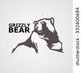vector illustration of bear. | Shutterstock .eps vector #332600684