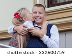 portrait of cheerful and happy... | Shutterstock . vector #332600759