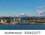 quay of puerto montt  lake... | Shutterstock . vector #332612177