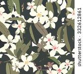 tropical floral pattern seamless | Shutterstock . vector #332612861