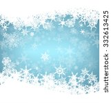 christmas snowflakes card | Shutterstock .eps vector #332613425