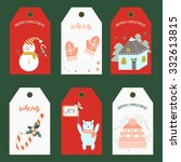 christmas tags. vector... | Shutterstock .eps vector #332613815