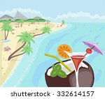 beach sea | Shutterstock .eps vector #332614157