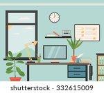 office workspace | Shutterstock .eps vector #332615009