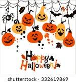 halloween background of... | Shutterstock . vector #332619869