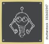 vector doodle chalk drawn retro ... | Shutterstock .eps vector #332632547