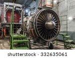 airplane gas turbine engine...   Shutterstock . vector #332635061