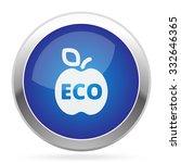 white apple icon on blue web...   Shutterstock .eps vector #332646365