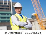 confident construction engineer ... | Shutterstock . vector #332646695