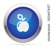 white apple icon on blue web... | Shutterstock .eps vector #332647637