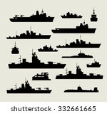 ships icons silhouettes of boat ... | Shutterstock . vector #332661665
