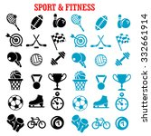 sport and fitness icons set... | Shutterstock .eps vector #332661914