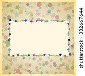 vintage card design for... | Shutterstock .eps vector #332667644