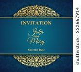 vintage invitation card. | Shutterstock .eps vector #332667914