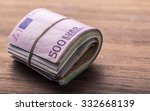 close up rolled euro banknotes... | Shutterstock . vector #332668139