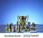 Trophy With Chess Pieces On Th...