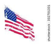 american grunge flag waving.... | Shutterstock .eps vector #332701331