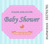 baby shower invitation template ... | Shutterstock . vector #332701781
