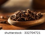 raw brown organic cloves ready... | Shutterstock . vector #332704721