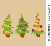 christmas trees | Shutterstock .eps vector #332711045
