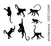 monkey silhouette collection  ... | Shutterstock .eps vector #332711549