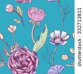 seamless floral pattern | Shutterstock .eps vector #332713811