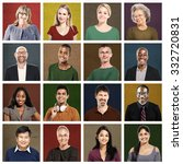 multiethnic people colorful... | Shutterstock . vector #332720831