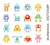 cute vector robots | Shutterstock .eps vector #332723189