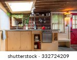 rustic kitchen in a bright... | Shutterstock . vector #332724209