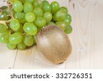 grape and kiwi fruit | Shutterstock . vector #332726351
