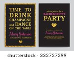 bachelorette party invitations. ... | Shutterstock .eps vector #332727299