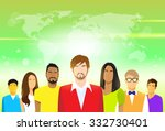 group of people with copy space ... | Shutterstock .eps vector #332730401