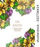 romantic invitation. wedding ... | Shutterstock .eps vector #332736614