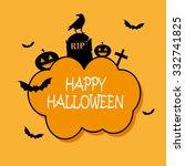 vector. happy halloween. | Shutterstock .eps vector #332741825