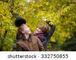loving couple   a man with a... | Shutterstock . vector #332750855