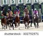 Stock photo horse race for the prize of letni in pyatigorsk northern caucasus russia 332752571