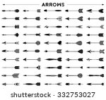 arrows and feathers | Shutterstock .eps vector #332753027