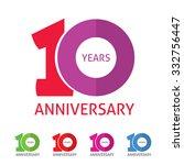 10th anniversary logo template  ... | Shutterstock .eps vector #332756447