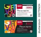 gift voucher template with... | Shutterstock .eps vector #332759654