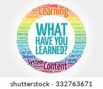 what have you learned  circle... | Shutterstock .eps vector #332763671